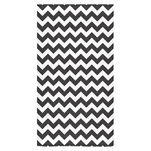 - Stylish And Customized Soft And Comfortable Black And White Chevron Bath Towel 16x28 Inch, Brilliant White Wash Cloth / Face Towels 16BT-139