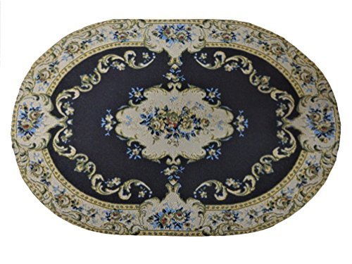 Melody Medium Woven Jane Dolls House Miniature Woven Oval Rug Black Miniature 1:12 Carpet Medium 005 B0796XCW77, ふみや文具店:df1eeb71 --- alumnibooster.club
