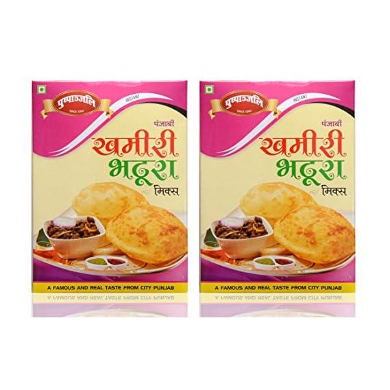 Pushpanjali Punjabi Khamiri Bhature Instant Mix, 400 grams (Pack of 2)