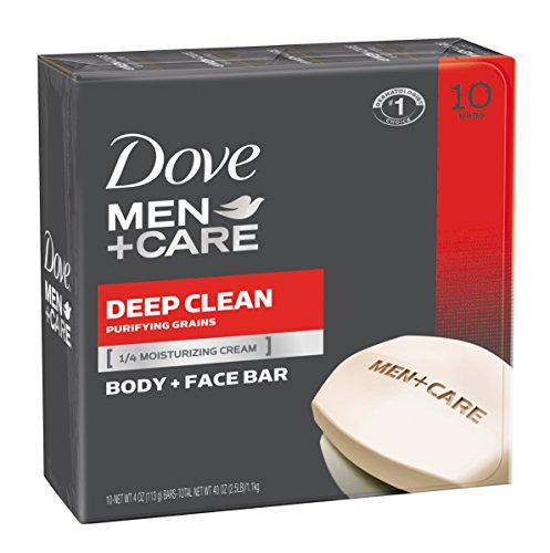 Dove Men + Care corps et visage Bar, Deep Clean 4 oz, 10 Bar