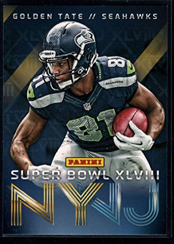 Football NFL 2014 Panini Seattle Seahawks Super Bowl XLVIII Champions #3 Golden Tate Seahawks