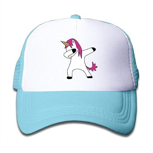 e0031dbf9969b Wecottkerc Kids Cap Classic Dancing Dabbing Unicorn Mesh Hat Dad Cap  Classic Baseball Cap Classic Adjustable