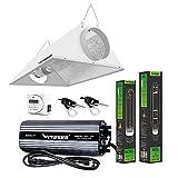 VIVOSUN Hydroponic 600 Watt HPS MH Grow Light Bulb Digital Dimmable Ballast Air Cooled Hood Set