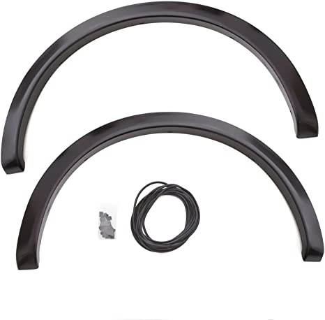 Lund SX312S Elite Series Black Sport Style Standard Front and Rear Fender Flare 4 Piece