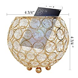 VINCIGANT Gold Crystal Votive Candle Holders for Home Decor Wedding Centerpieces Moroccan Candle Lantern Bowl Candle Jar Candelabra