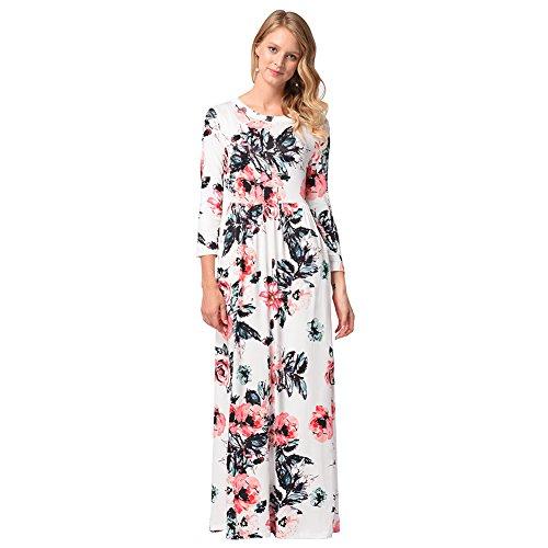 Mujer Vestido XIU Un RONG white Vestido Largo De Para pqZ6Ry7wUZ