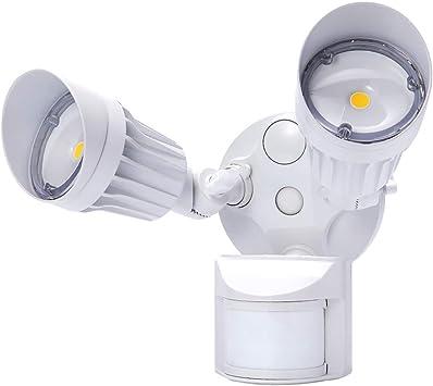 JJC LED Security Lights ,Motion Sensor Flood Light Outdoor Fixture,2000LM 20W(120W Equiv.),IP65 Waterproof,5000K Daylight White ETL Listed Outdoor Lighting White