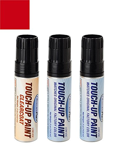 ExpressPaint Half-Ounce Jar Lincoln MKX Automotive Touch-up Paint - Ruby Red Metallic Tricoat RR - Color + Clearcoat Package - Lincoln Mkx Colors