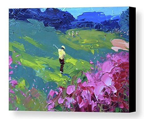 Augusta National Golf Art Prints Modern Canvas Wall Art Ready to Hang Italy Prints 16x20 20x25 24x30 30x38 Landscape Home Decor Living Room Office Christmas Gifts for Him Husband - Agostino Veroni by AGOSTINO VERONI ORIGINAL PAINTINGS AND FINE ART PRINTS