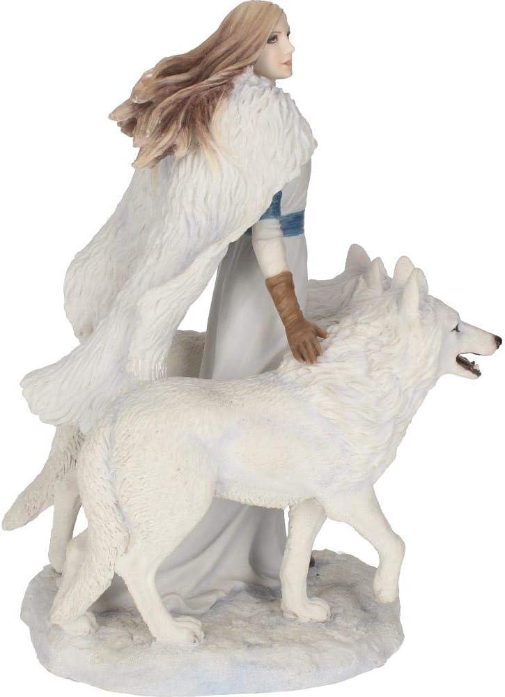 Nemesis Now Figurine Anne Stokes Gardiens dhiver en r/ésine Blanc 28 cm Taille Unique