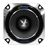 "Pyle PDBT28 1"" Car Audio Speaker Tweeter - 300 Watt High Power 1 Inch with Die Cast Aluminum Frame, 30 oz. Magnet, 5in. x 5in. x 4in., Black"