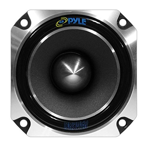 Pyle PDBT28 1 Car Audio Speaker Tweeter - 300 Watt High Power 1 Inch with Die Cast Aluminum Frame, 30 oz. Magnet, 5in. x 5in. x 4in., Black