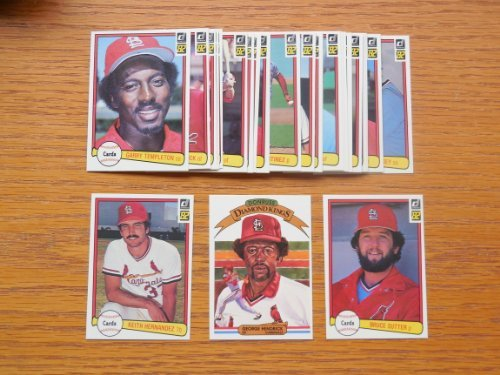 1982 St Louis Cardinals Donruss Baseball Team Set (28 Cards) (World Series Champions)** Joaquin Andujar, Steve Braun, Luis DeLeon, Bob Forsch, George Hendrick, George Hendrick Diamond King, Keith Hernandez, Tom (1982 St Louis Cardinals)