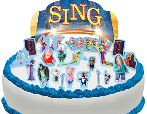 (Cakeshop PRE-CUT Sing Edible Cake Scene - 21 pieces)