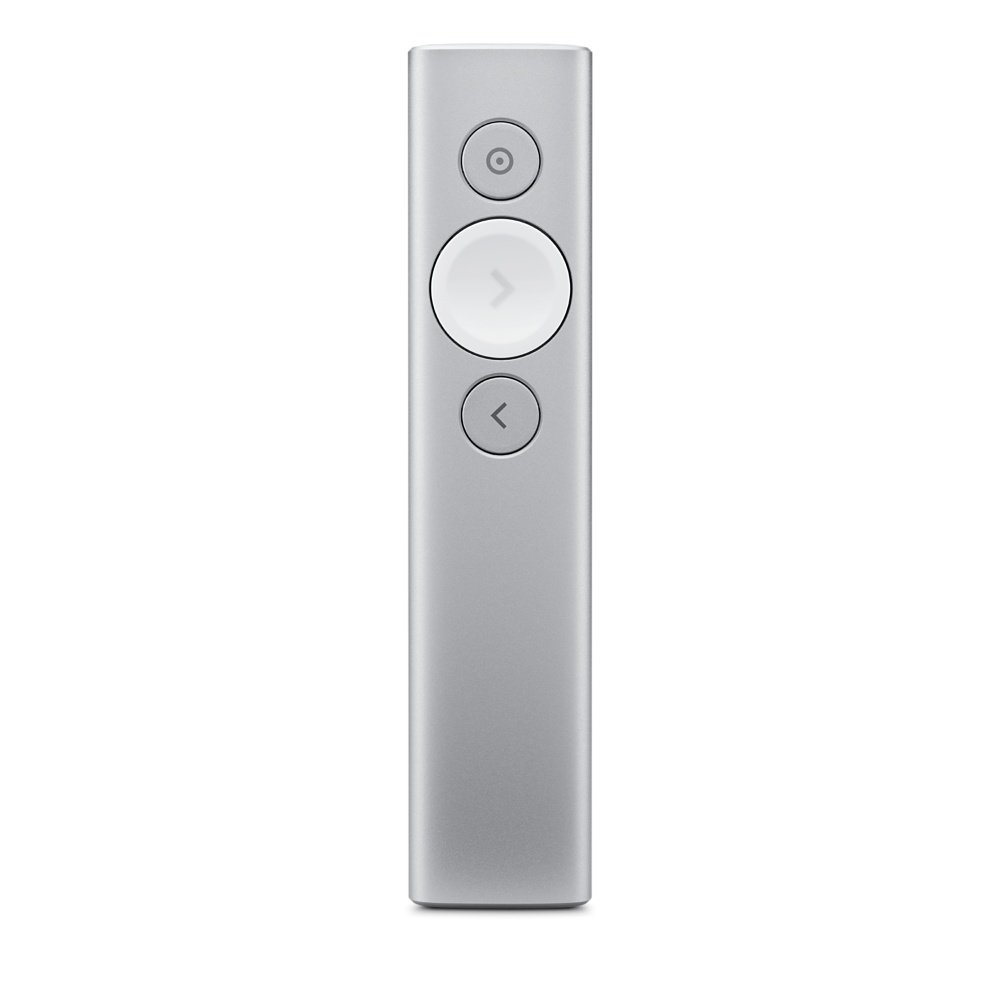 Logitech Spotlight Advanced Presentation Remote – Silver(Certified Refurbished)