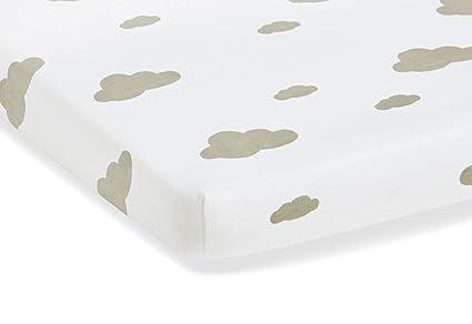 Pinolino 540002-8D Doppelpack Spannbetttuch f/ür Kinderbetten grau