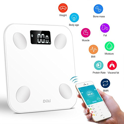 Body Fat Scales DIKI Bluetooth Body Weight Scal...