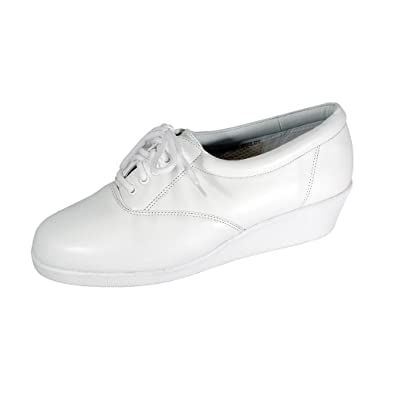 51161d8ed3d6 24 Hour Comfort Helga (2717) Women Extra Wide Width Leather Sneakers White 5