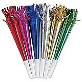Party Horns 8/Pkg-Assorted Colors