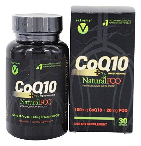 30 Softgels Vegetarian (Extreme V - CoQ10 Plus Natural PQQ - 30 Vegetarian Softgels)