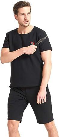 Cortocircuitos de la Luz Oculta Cuchillo a Prueba de Traje de Manga Corta de protección Anti-Arma Blanca Ropa Anti-Corte de la Camiseta,M: Amazon.es: Hogar