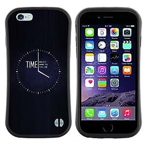 "Hypernova Slim Fit Dual Barniz Protector Caso Case Funda Para Apple (5.5 inches!!!) iPhone 6 Plus / 6S Plus ( 5.5 ) [Reloj Negro minimalista Ocupado""]"