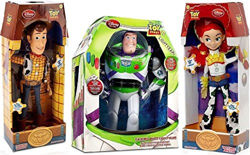 Toy Story Woody, Buzz Lightyear, Jessie Cowgirl TALKING action figure Dolls by Disney -