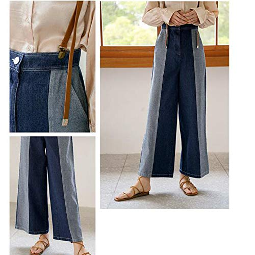 Colorate Pantalone Ademi Blue Con Donna Uomo Dritto Da Cuciture qX1wTzX