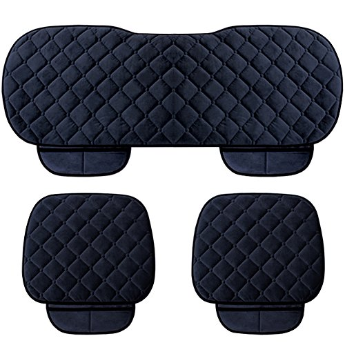 WINGOFFLY 3 Pack Thicken Front and Rear Car Seat Cushion Nonslip Car Interior Seat Cover Pad Mat Fit for Auto Vehicle, ()