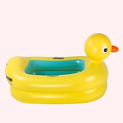Inflatable Bath Tub Piccola Piscina Per Bambini Giallo Anatra