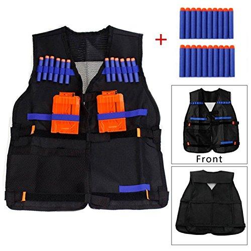 Yosoo-Kids-Elite-Tactical-Vest-with-20-Pcs-Soft-Foam-Darts-for-Nerf-Gun-N-strike-Elite-Series-Not-Including-2-Clips