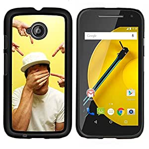 - fingers pointing closed eyes art/ Duro Snap en el tel??fono celular de la cubierta - Cao - For Motorola Moto G 2nd Generation