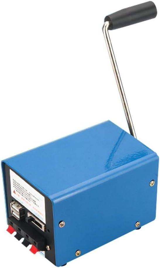 generador de manivela manual, Generador Portátil, 20w , Generador para Teléfono Celular, Luz Nocturna USB, Ventilador USB, Banco de Energía, Generador de Emergencia para Actividades Al Aire Libre: Amazon.es: Hogar