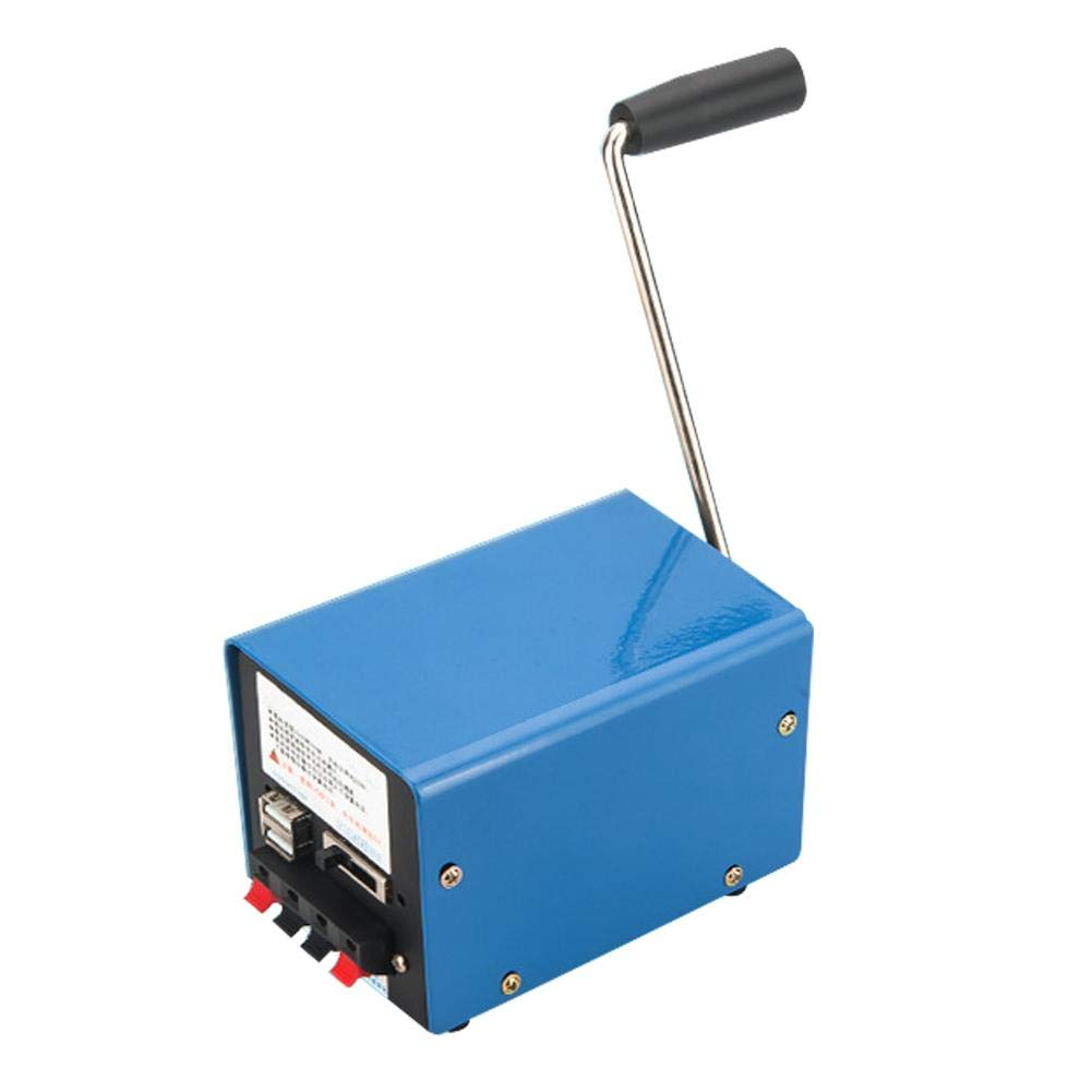 Globalqi Générateur à manivelle Ménage Haute Puissance Urgence Catastrophe Portable Générateur USB Téléphone Portable Informatique Chargeur