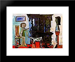 the dining room of vauvenargues 20x24 framed art print by
