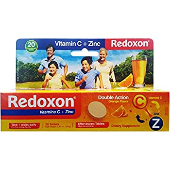 Redoxon Vitamin C Tablets | Orange Flavor, Effervescent Double Action Supplement of Vitamin C and Zinc for Immune System Support, Healthier Lifestyle, ...