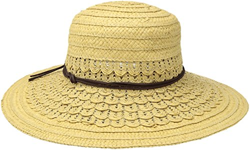San Diego Hat Company Women's Ultrabraid Woven Paper Sun Brim Hat, Natural, One (Suede Woven Hat)