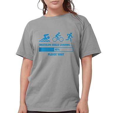 81c3ec7dc CafePress Triathlon Skills Loading White T Shirt Womens Comfort Colors Shirt