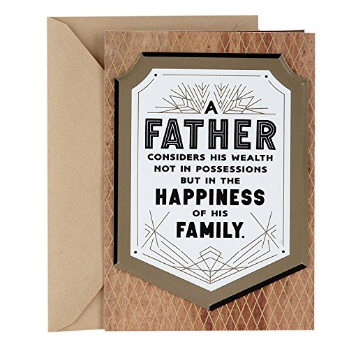 Hallmark Mahogany Father's Day Greeting Card (Time, Sacrifices, Memories)
