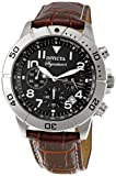 Invicta Men's 7281 Signature Chronograph Black Dial Brown Leather Watch