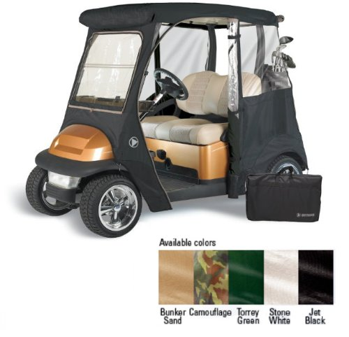 GreenLine Club Car Precedent 2 Passenger Drivable Golf Cart Enclosure - Jet Black by GreenLine (Image #2)