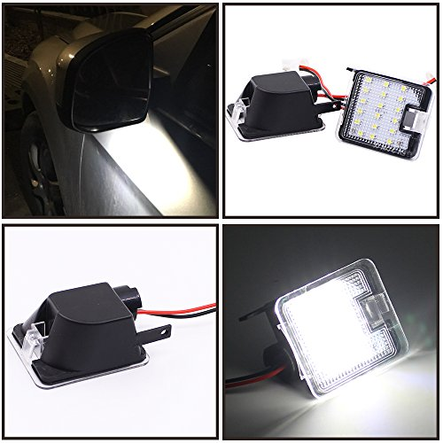 2pcs set High Power 2.0W 18 SMD White LED Side Mirror Puddle Lights For Ford C-Max/Ford C-Max II/Ford Focus III/Ford Kuga/Ford Kuga II/Ford Escape 2015-2016/Ford Mondeo IV 2007-2014