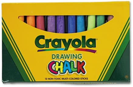 Binney /& Smith Crayola Drawing Chalk Box Of 12 R Assorted Colors