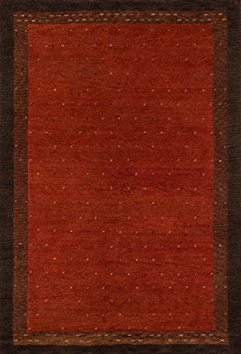 Momeni Rugs DEGABDG-01PAP80B0 Desert Gabbeh Collection, 100% Wool Hand Knotted Contemporary Area Rug, 8′ x 11′, Paprika Review