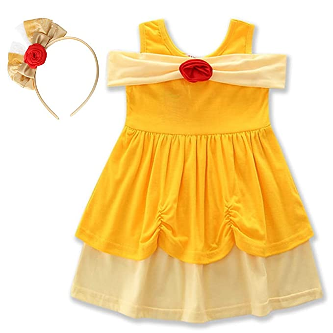 IBTOM CASTLE Niña Disfraz de Princesa Blancanieves Ariel ...