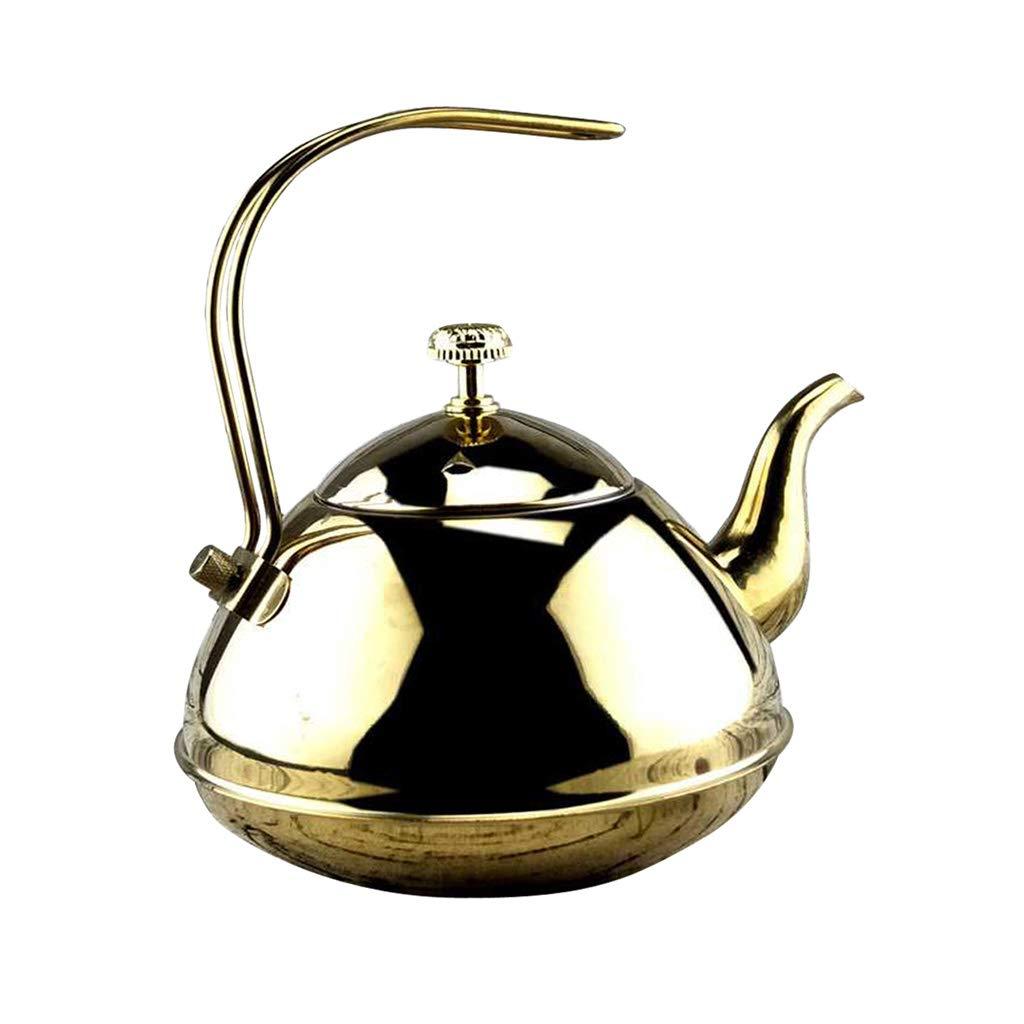Teapot with Mirror Finish 1.0L/1.5L Fityle Tea Kettle Pot 1.0L Golden Stove Top Tea Maker Teapots