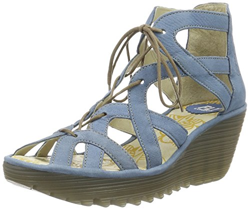FLYA4|#Fly London Yeli719fly, Heels Sandals para Mujer Azul (Smurf 006)
