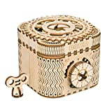 ROKR 3D Assembly Wooden Puzzle DIY Crafts Kit Fun Creative DIY Toy Treasure Box Brain Teaser Mechanical Engineering Model Building Kits Educational Toy Birthday Gift for Adults and Kids Age 14+
