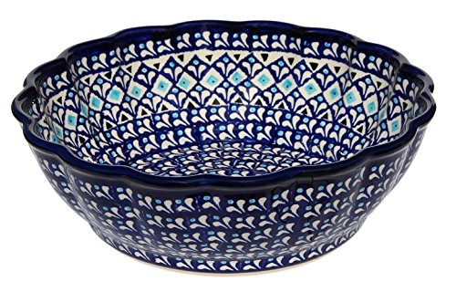 """Polish Pottery Bowl 9"""" From Zaklady Ceramiczne Boleslawiec, Diameter: 9"""" (217a)"""