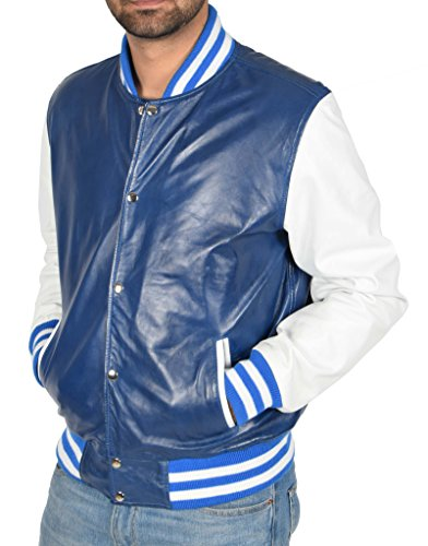 B de moda cuero hombre para Bomber de Chaqueta hombre A1 moda para de wpq7x6Y